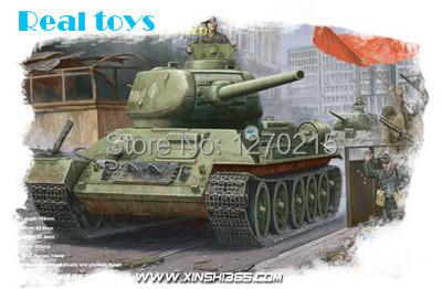 Trompetista modelo 84809 1/48 soviética T34 / 85 médio tanque com estrutura interna T34 tanque de plástico
