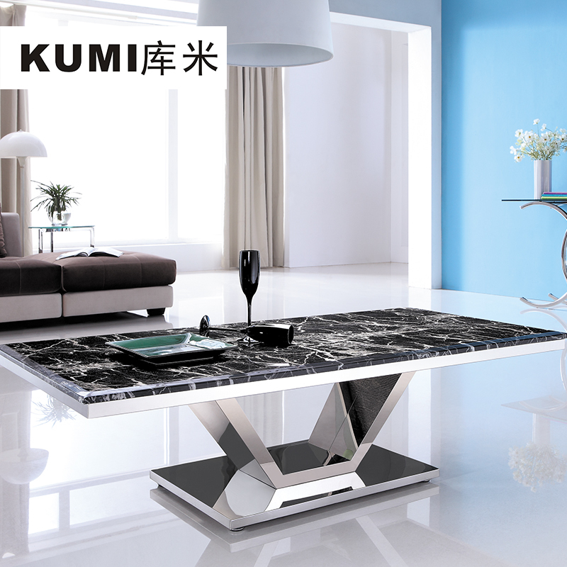 Library Meter Rectangular Marble Coffee Table Modern Minimalist Fashion  Mirror Stainless Steel Metal Furniture # CJ 1048 In Coffee Tables From  Furniture On ...