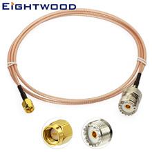 Eightwood SMA męskie do żeńskiego UHF SO239 RG316 kabel koncentryczny 100cm się z takim rozszerzeniem CB Radio antena do ręcznego Walkie Talkie Adapter tanie tanio WEEE CN (pochodzenie) Radiowy AC-S01SP-U01SJ-316-100 Male to Female SMA Straight Plug UHF Straight Jack 39 (1000mm) 50 Ohm