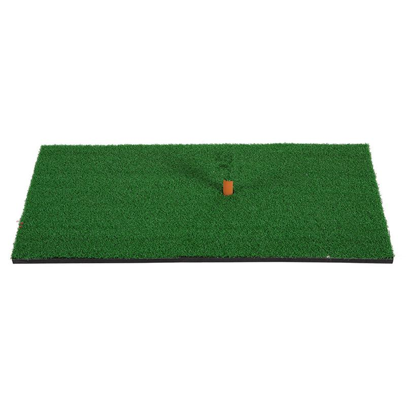 Residential Practice Hitting Mat Rubber Tee Holder Realistic Grass Putting Mats Portable Outdoor Sports Golf Training Turf Mat