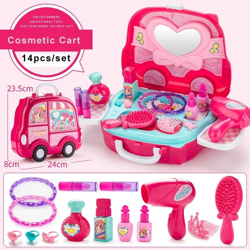 jeu de coiffure pour enfants ensemble de jouets de maquillage en plastique accessoires miniatures pour enfants filles hamburger jeu a glace