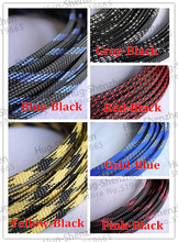 6mm Braided PET Expandable Sleeving -Color Selectable 20M
