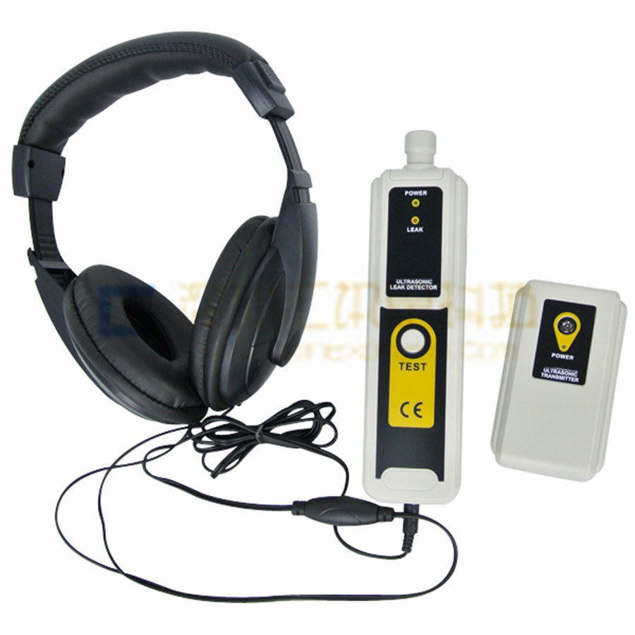 Ultrasonic Gas Leak Detector Transmitter Pressure Vaccum System Locator Detects Air Water Dust Leak Indicator