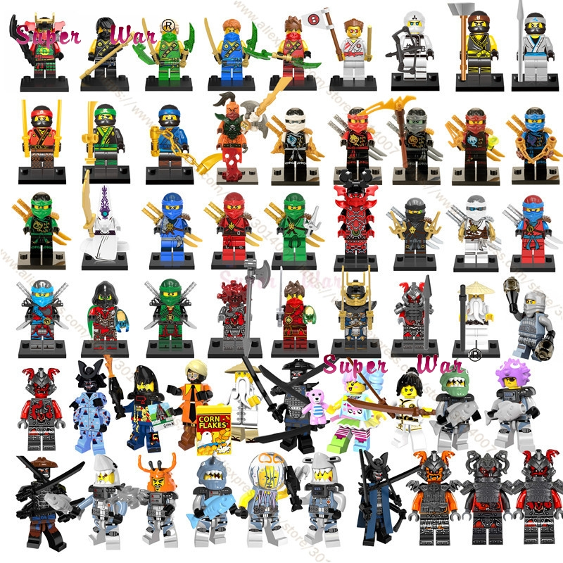 20pcs Ninja Masters of Spinjitzu Movie KAI JAY COLE ZANE Lloyd Wu NYA Ronin GARMADON bui ...