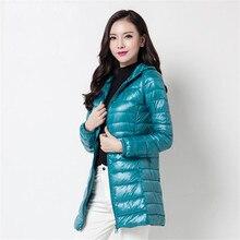 2020 novo inverno mulheres finas midi longo pato branco para baixo jaqueta tamanho grande para baixo jaqueta senhora para baixo casaco com capuz casacos femininos 403