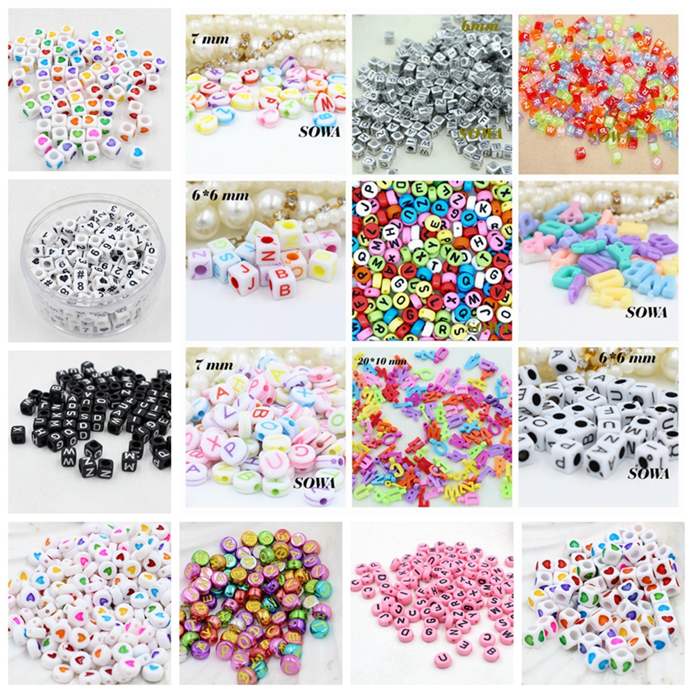 100PCS 4MM X 7MM PINK ACRYLIC FLAT ROUND BEADS WITH WHITE HEART DESIGN