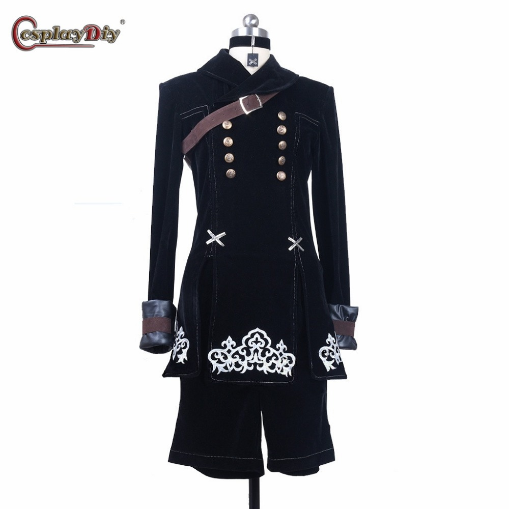 Cosplaydiy Game NieR:Automata YoRHa No. 9 Type S Costume Adult Men Halloween Carnival Cosplay Costume Custom Made J5
