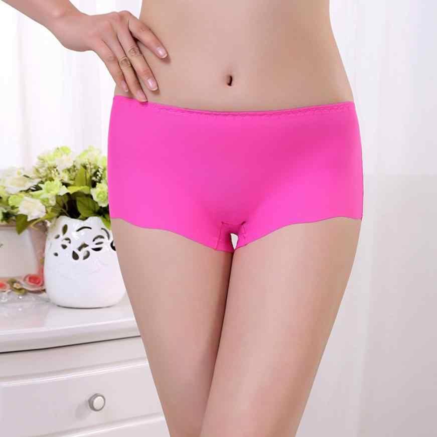 Neueste Frauen Unsichtbare Unterwäsche Boxer Slips Spandex Nahtlose Gabelung Beliebte frauen Unterhosen Elastische Dessous Unterwäsche