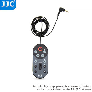 Image 2 - JJC 1.5m / 4.6 Feet kablo kablolu uzaktan kumanda kontrolörü komutanı Zoom H6 Handy taşınabilir dijital değiştirir RCH 6