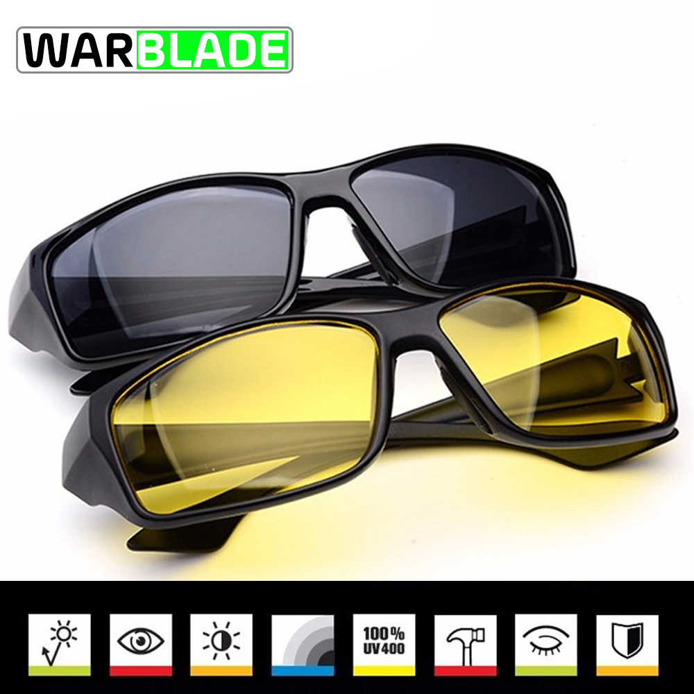 2018 Night Vision Cycling Glasses Bike Eyewear Sports Sunglasses Bicycle UV Protective Goggles Bike Goggles Drop Shipping