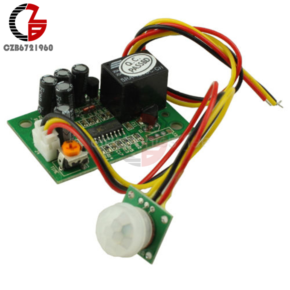 Hot Sale Pir Motion Sensor Relay Module Ir Infrared Human Body Switch For Induction Detector Controller Delay Dc 12v