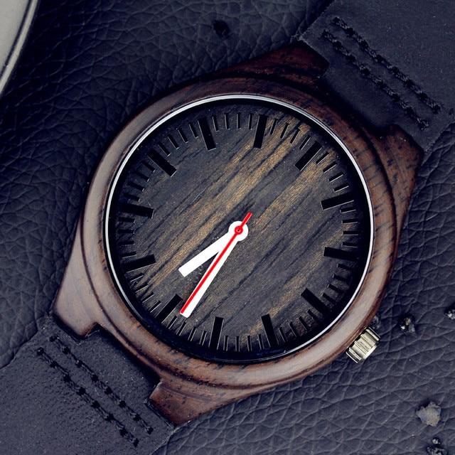 Zegarek męski drewniany Enmex ciemne drewno