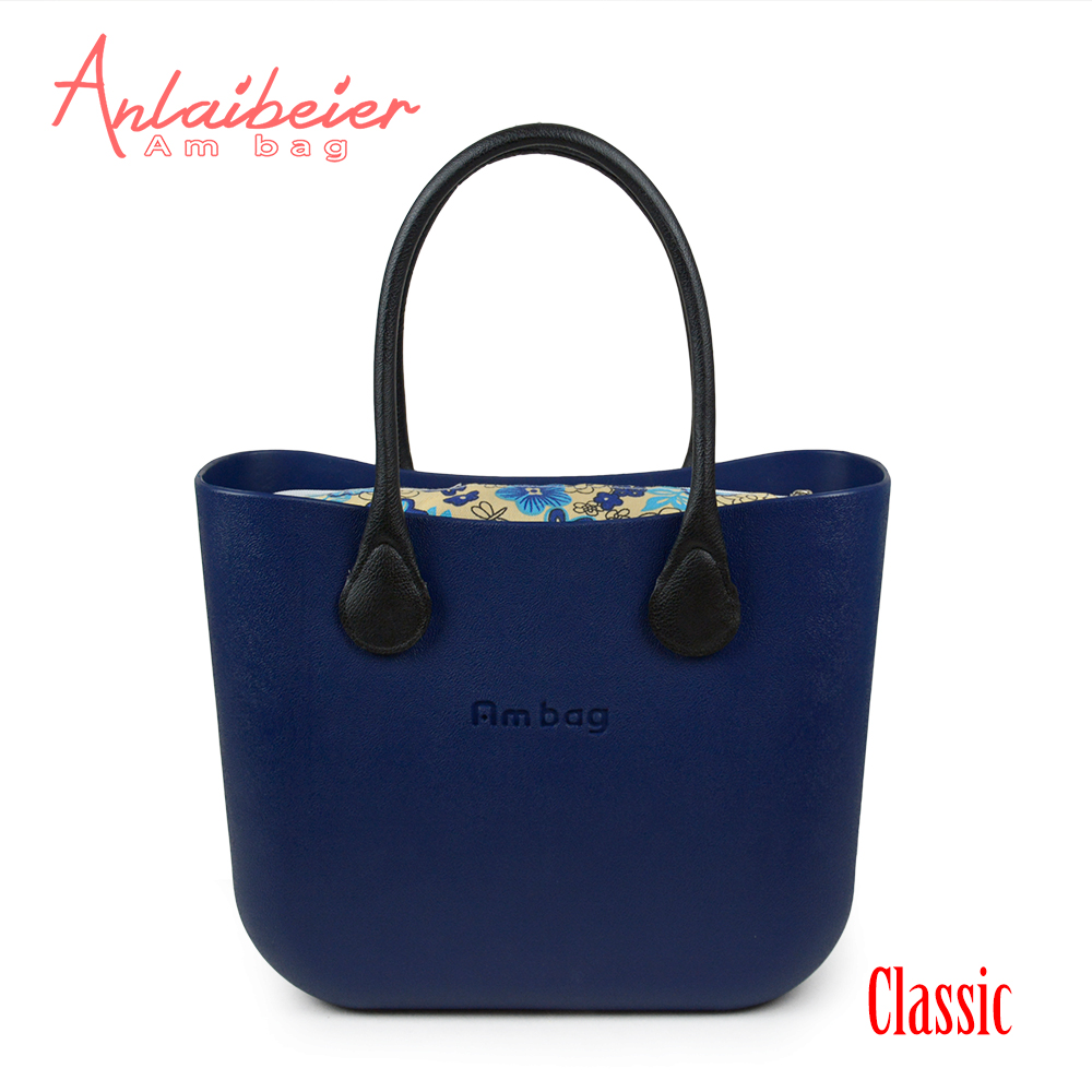 ANLAIBEIER New Obag O Bag Style Waterproof Classic Big Ambag EVA Bag with Floral Canvas Insert Lining Colorful leather handleANLAIBEIER New Obag O Bag Style Waterproof Classic Big Ambag EVA Bag with Floral Canvas Insert Lining Colorful leather handle
