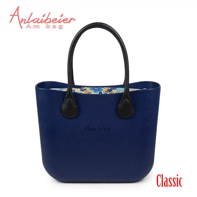 c97b6720530c ANLAIBEIER новая сумка Obag O стиль Водостойкая Классическая большая сумка  Ambag EVA с цветочной холщовой вставкой
