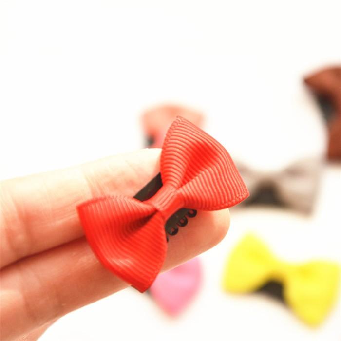 HTB1qNs1JVXXXXbAXXXXq6xXFXXXR Cute 10-Pieces Solid Polka Dot Mini Bow Baby Hair Grips - 2 Styles
