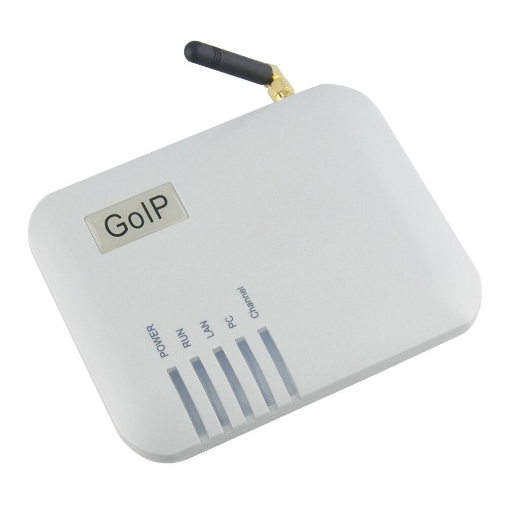 Quatre bandes 1 xGSM SIM passerelle convertisseur SIP IP téléphone adaptateur goip-1 prise en charge IMEI changement