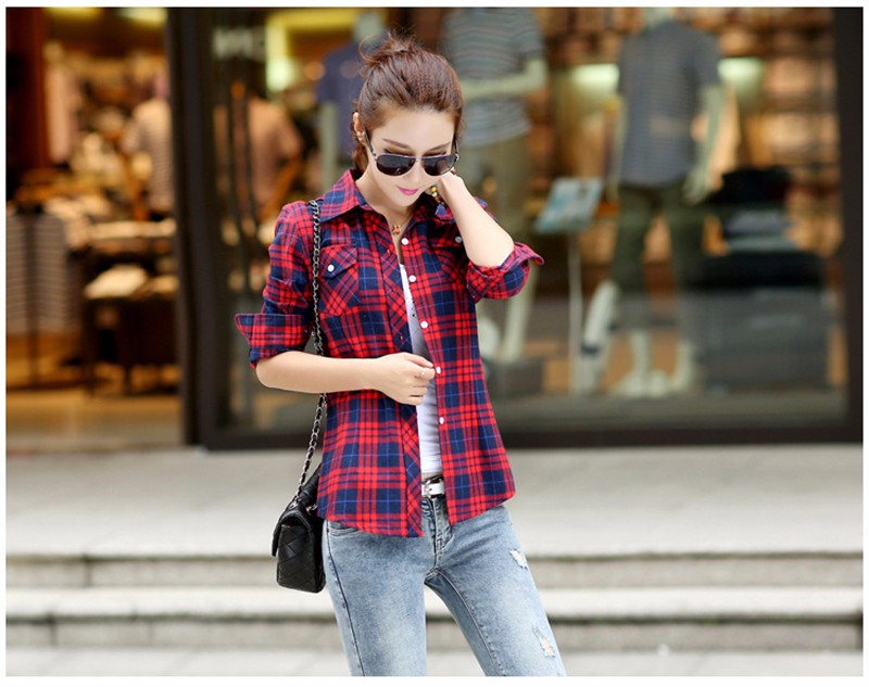 checked blouse 08