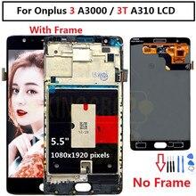 """Oneplus 3 T ЖК дисплей с сенсорным экраном 100% новый FHD 5,5 """"дигитайзер в сборе сменный аксессуар для One plus A3010 A3000 3 three"""