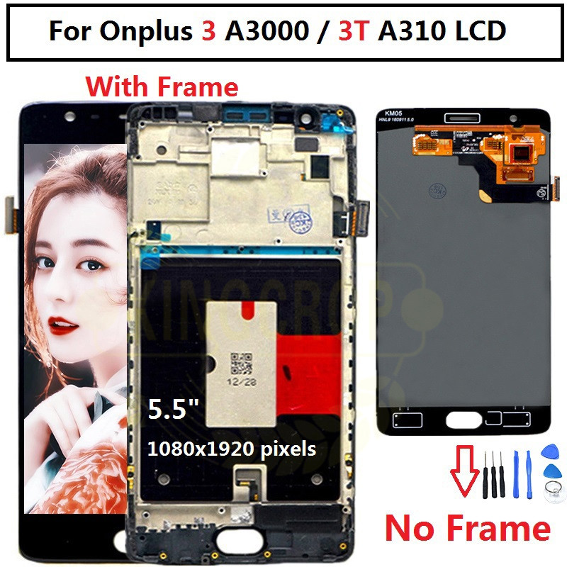 """Oneplus 3T LCD Display Touch Screen 100% New FHD 5.5"""" Digitizer Assembly Replacement Accessory For One plus A3010 A3000 3 three-in Mobile Phone LCD Screens from Cellphones & Telecommunications"""