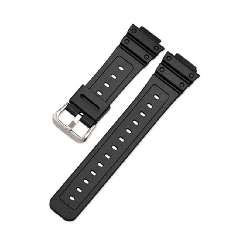 Watch band Wrist Strap Band Silicone Steel Buckle Adjustable Replacement for 5600 Series <font><b>DW</b></font>-5600E <font><b>DW</b></font>-<font><b>5700</b></font> G-5600 G-<font><b>5700</b></font> GM-5610 image