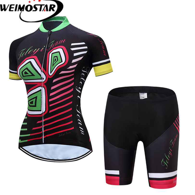 Weimostar Team Riding Short Sleeve Maillot Ciclismo Womens Cycling Jersey Sets Summer breathable Cycling Clothing