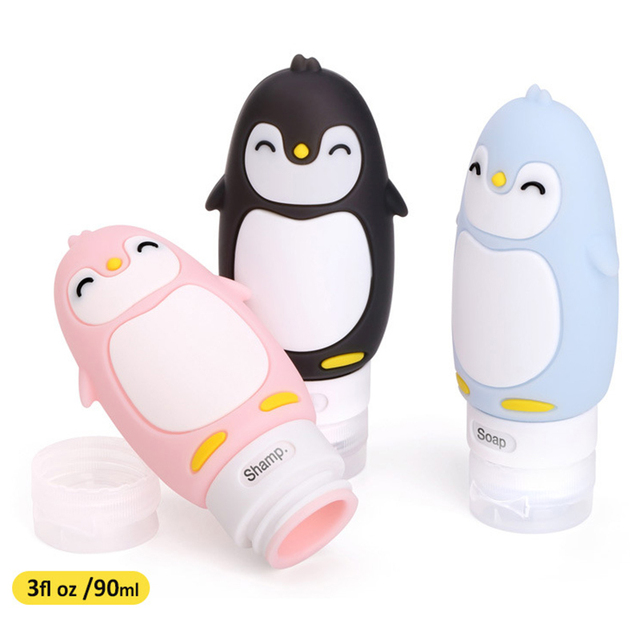 90ml Travel Empty Silicone Refillable Bottles &#82...