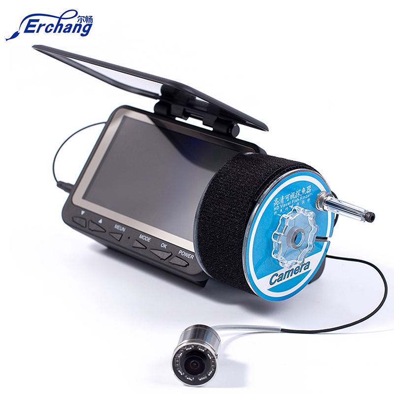 Erchang Fish Finder Waterproof 15m/30m/50m DVR Function Fish Finder 1000TVL Underwater Fishing Video Camera Free Shipping 2 4g wireless fish finder underwater fishing camera video free soft app 50m underwater breeding monitoring for fish searching
