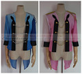 Yuri on Ice Victor Nikiforov Yuri Katsuki Cosplay blue pink match sports clothes Coat Yuri!!! on Ice top Costume