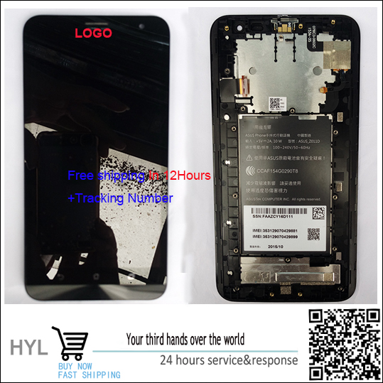 Original quality Touch screen digitizer LCD display with frameFor Asus ZenFone 2 Laser 6 0 ZE601KL