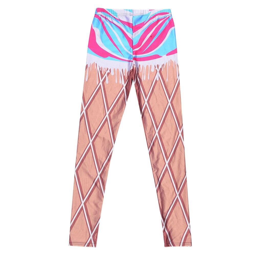 cdca6828 JIGERJOGER 2017 lady Brown mesh Printed Leggings girls sweatpants ...