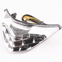LED Tail Light Taillight Turn Signal Lamp For Kawasaki Ninja 300 2013 2014 Clear Motorcycle Parts!