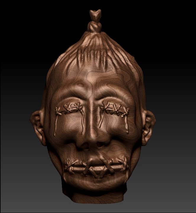 New Design 3D Model STL File Format Relief For CNC Shrunken Head
