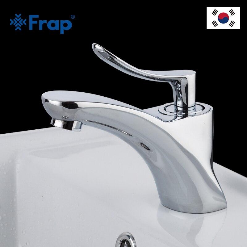 Robinets de bassin de salle de bains de couleur de chrome de FRAP robinet d'eau froide et chaude de poignée simple sans éclabousser la bulle d'eau douce d'aérateur