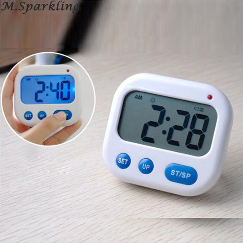 2018 Vibration Alarm clock Luminova LED Digital Timer Electronic Candy Watch Desktop Display Student Clock Desk Gadgets