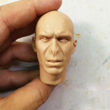 1/6 Voldemort Unpainted Head Sculpt White Bald Head Carving for 12''Action Figures Bodies цены