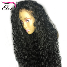 Elva Hair 180 Density 360 Lace Frontal Wig Curly Human Hair Wigs Remy Hair Pre Plucked