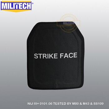 MILITECH SIC & PE NIJ Nivel III + placa antibalas NIJ 3 Plus Panel balístico independiente AK47 M80 SS109 placa envío gratis