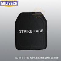 Militech sic & pe nij nível iii + placa à prova de balas nij 3 mais suporte sozinho painel balístico ak47 m80 ss109 placa frete grátis