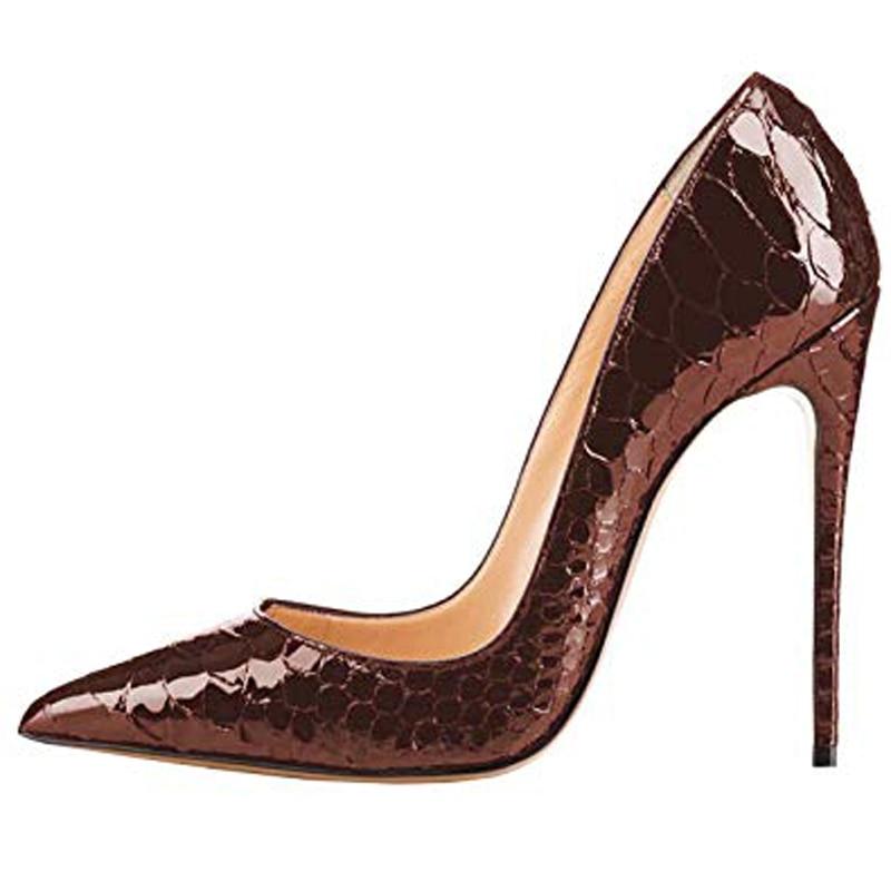 blue Serpiente Tacón Deslizamiento Boda En De Básicos Alto Black brown Stiletto Zapatos Lovirs Sexy Fiesta Mujer Bombas qxwCZCg