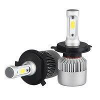 2pcs H4 HB2 9003 Car COB LED Conversion Headlight Bulb Kit High Low Beam 360 Degree