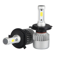 2pcs H4 HB2 9003 Car COB LED Conversion Headlight Bulb Kit High Low Beam 360 Degree