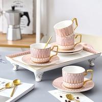 Vintage Coffee Cup Tea Set Ceramic Ceramics Cups Creative Christmas Cup Creative Kubek Thee Glazen Crockery Home 5B009
