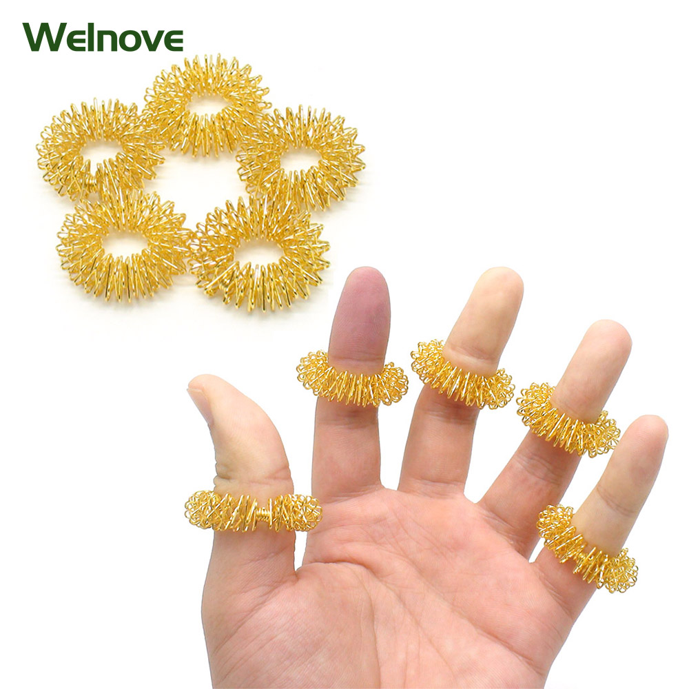 Hot Sale Finger Massage Ring Acupuncture Ring Health Care Body Massager Relax Hand Massage Finger Lose Weight C146