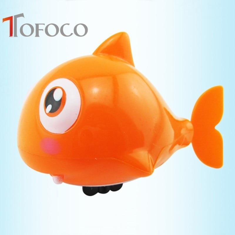 Tofoco حار بيع مضحك البرتقالة الاستحمام اللعب لطيف البلاستيك السباحة أسماك القرش بركة حمام اللعب