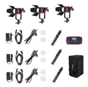 Image 5 - 3 Pcs CAME TV Q 55S Boltzen 55w High Output Fresnel Focusable LED Bi Color Kit With Light Stands