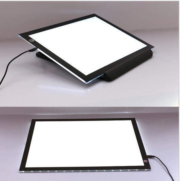 Tattoo5.5mm Super Thin A3 LED Drawing Copy Tracing Stencil Board Table Tattoo Pad Translucent Light Box copy pad USB