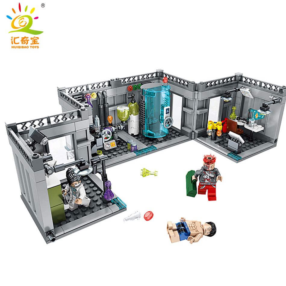 367PCS Biochemical Lab Model DIY Building Blocks Bricks Compatible Legoed City Police Figures Enlighten Toys For kids Friends 10646 160pcs city figures fishing boat model building kits blocks diy bricks toys for children gift compatible 60147