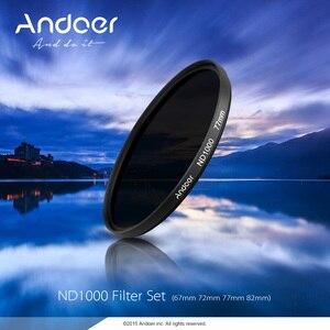 Image 5 - Andoer ND Lọc 67 mét/72 mét/77 mét/82 mét ND1000 10 Dừng Fader Neutral Mật Độ lọc đối với Canon Nikon Máy Ảnh DSLR Máy Ảnh