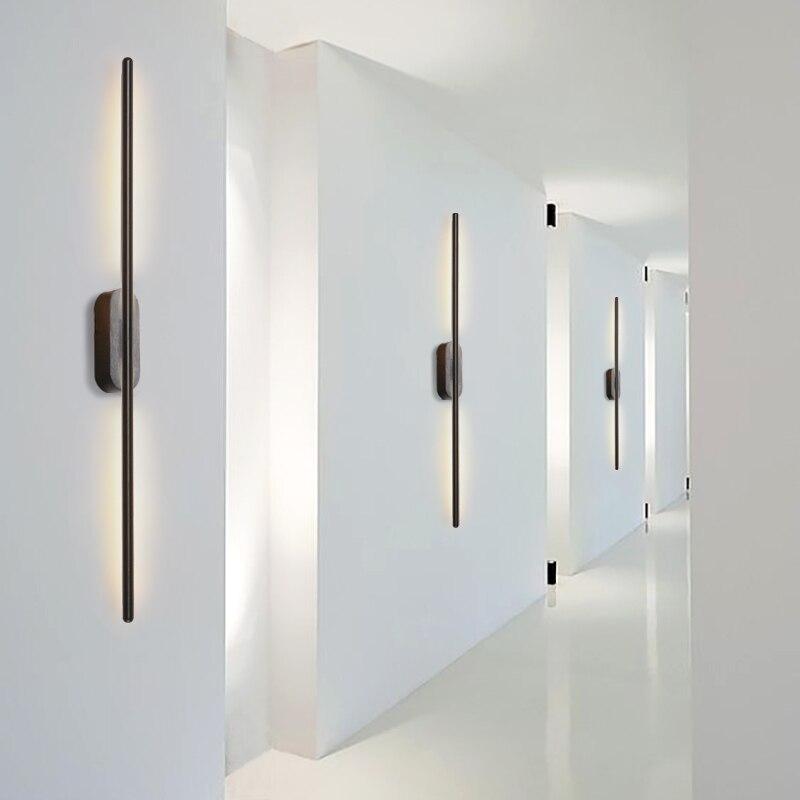 NEW Modern Design Fashion LED Aluminum Rust Mirror Front Light Living Room Bedroom Aisle Wall Lamp Baton Wall Light
