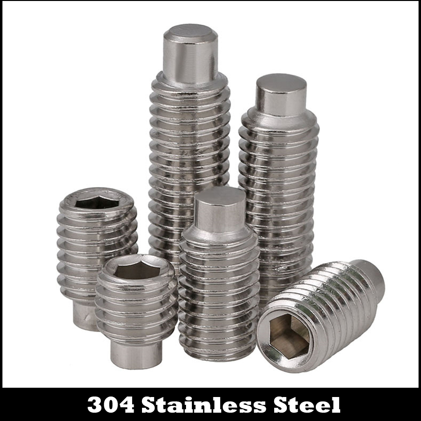 M3 M4 M3*10 M3x10 M3*12 M3x12 M4*4 M4x4 M4*5 M4x5 DIN915 304 Stainless Steel Hexagon Socket Allen Head Grub Dog Point Set Screw m4 m4 10 m4x10 m4 16 m4x16 316 stainless steel 316ss din916 inner hex hexagon socket allen head grub cup point set screw